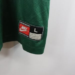 Nike Shirts - 90s Nike Mens Large Green Bay Packers Favre Jersey